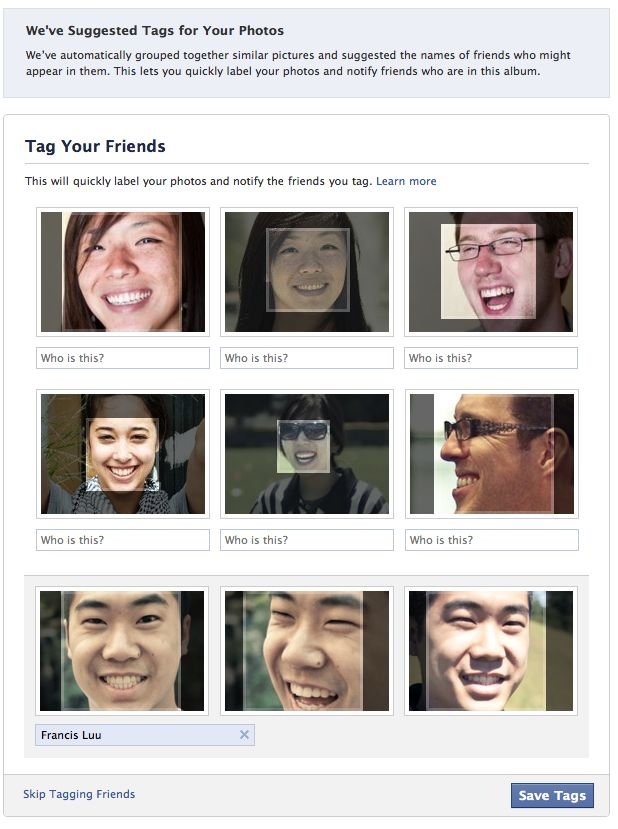 Facebook re enables Tag Suggestions facial recognition feature in the US, on by default for all