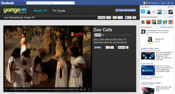 Yamgo TV 730x392 Yamgo snaps up Indian TV channel Zee Café for its mobile TV and video streaming network