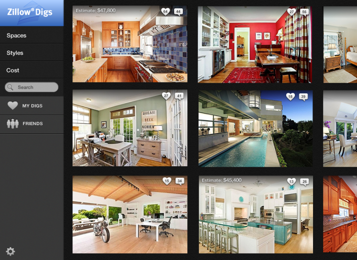 Zillow Digs Home Page1 730x532 Zillow moves into home improvement with its new Digs marketplace