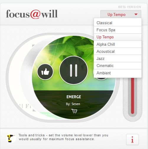 b3 Focus@Will: The music streaming service that wants to help you concentrate