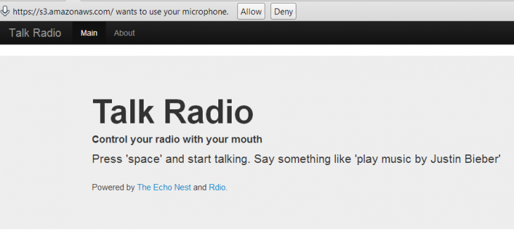 b8 730x336 This neat hack takes voice search to Rdio via Google Chromes new Web Speech API