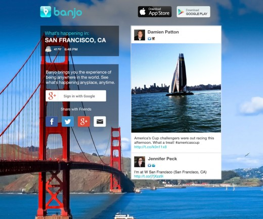 banjo 520x434 Google takes on Facebook Connect with Google+ Sign In, bringing easy sharing to 10 launch partners