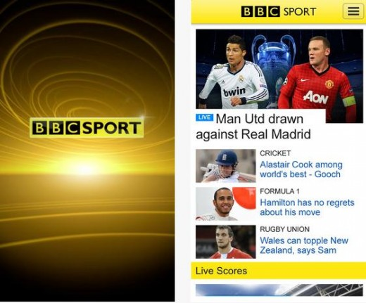 bbc sport app 520x431 BBC Sports iOS app is now available globally, Android coming soon