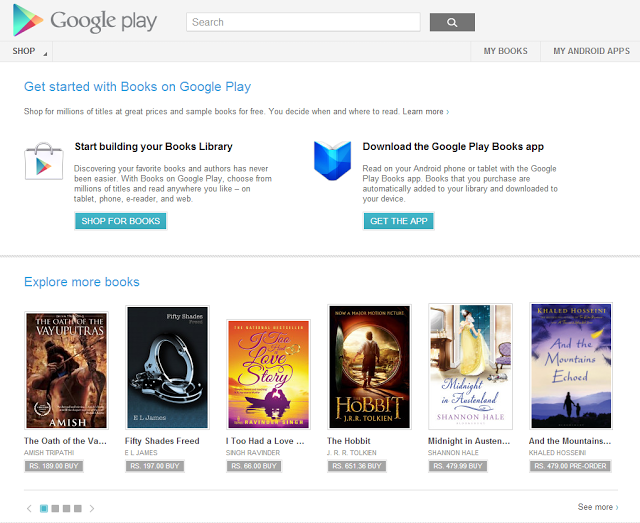 books Google launches Google Play Books in India, but theres no movie or music content for now
