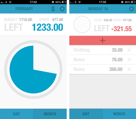 budgt1 BUDGT is a stunning iPhone app to help you manage expenses and stick to a monthly budget