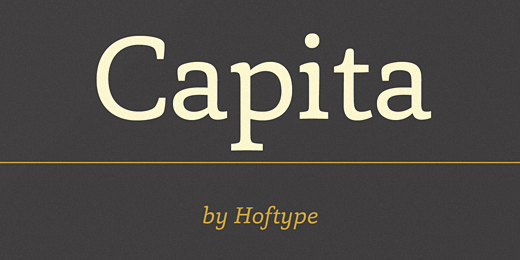 capita 40 Of the most beautiful typeface designs released this January