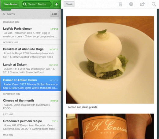ios snippet 520x455 Evernote for iOS gets better PDF viewing, Snippets on iPad and Trunk app discovery [Updated]