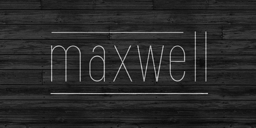 maxwell sans 40 Of the most beautiful typeface designs released this January