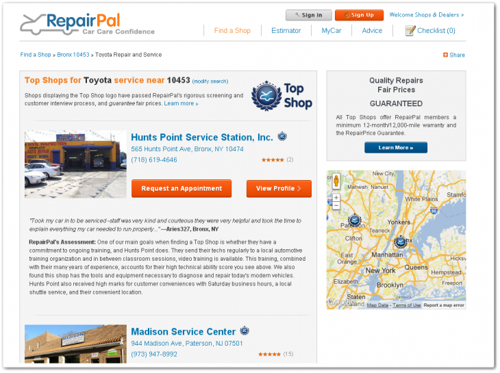 repairpal2 730x545 RepairPal lands $13m from Cars.com and Castrol to bring trust and transparency to auto repairs