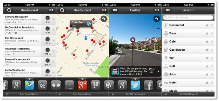 s1 horz 730x337 Location powered iOS browser Localscope integrates Baidu, Qype and 4 other global services