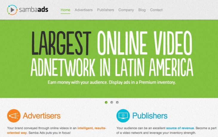 samba ads home 730x458 Samba Ads raises $500k, hopes to become Latin Americas leading video ad network