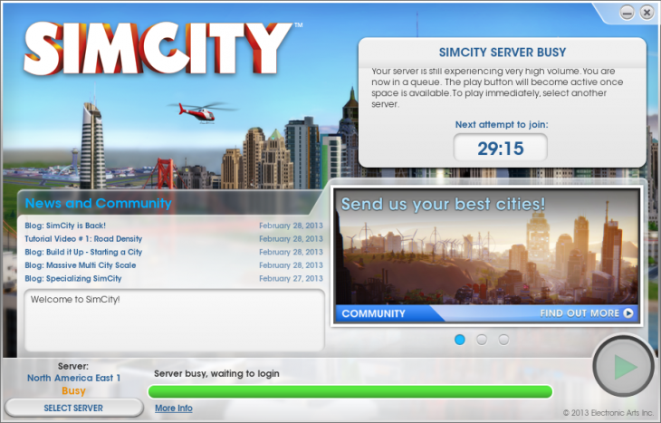 2013 03 05 0309 730x467 Simcity launch hindered by server issues, game delays and frustration, users say we told you so