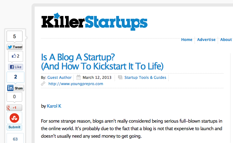 2fcab559 9c1a 44bc 865f 41782f48fd8d Got $2m to spare? You can try to buy KillerStartups and their killer domain Startups.com