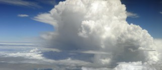A cumulonimbus cloud as seen from a comm