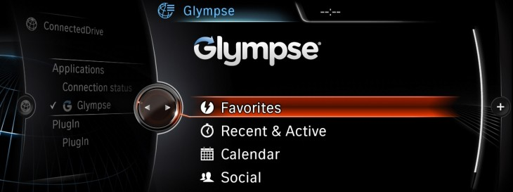 BMW Apps Glympse 730x273 Glympse brings its location sharing to BMW and MINI vehicles alongside Audible, Rhapsody and TuneIn
