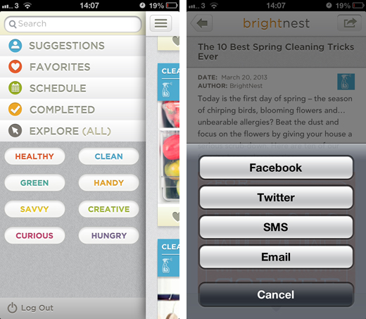 Brightnestscreens2 BrightNest for iOS gives you inspiration, tips and advice on home improvements