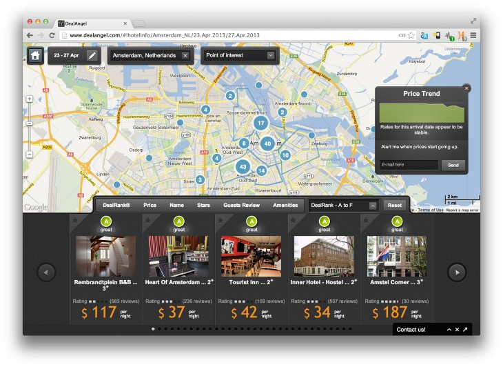 DealAngel 730x532 DealAngel's new Trends feature helps you book a hotel at the right time to get a good price