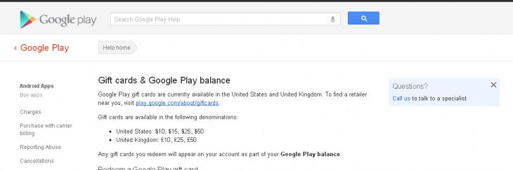 DpFIqRh 730x243 Google listing shows Google Play gift cards are UK bound, will come in £10, £25, £50 denominations