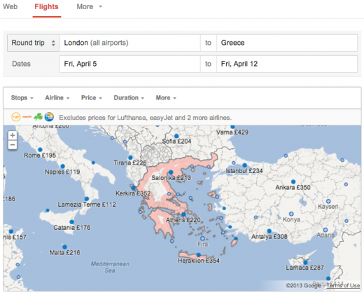 FS EMEA 5 post image 1 520x421 Google updates Flight Search to support trips from the UK, France, Italy, Spain and the Netherlands