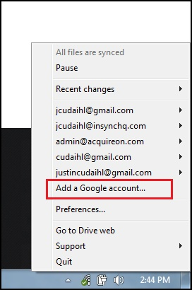 Insync supports muliple Google accounts across all platforms Now out of beta, Insync is a feature rich syncing service built for Google Drive power users