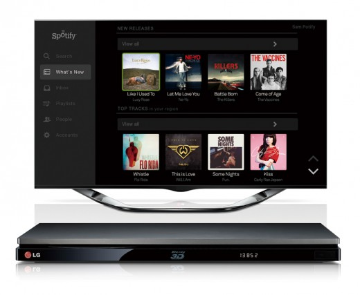 LG SPOTIFY 02 520x427 LG to add Spotifys music streaming service to all of its upcoming smart media devices