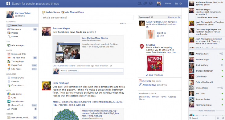 Screen Shot 2013 03 07 at 2.44.13 PM 730x392 A deep dive into Facebooks News Feed redesign: Success, and only a few party fouls