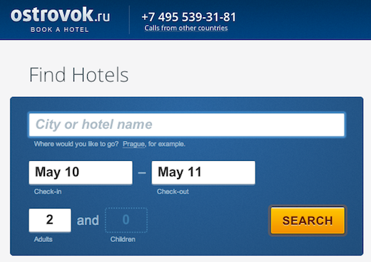 Screen Shot 2013 03 27 at 2.22.54 AM Russian hotel booking site Ostrovok lands $25m from Yuri Milner, Accel and others