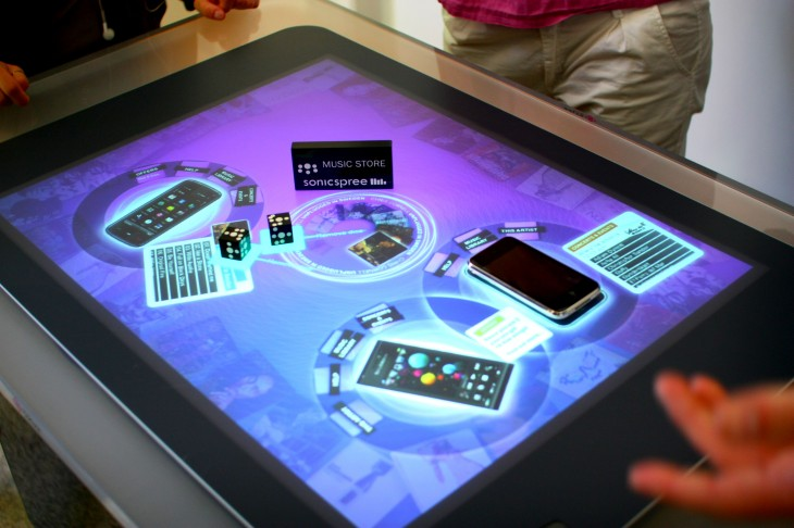 Surface table 730x486 Microsoft's Perceptive Pixel premise: The future of touch computing isn't stuck in your pocket