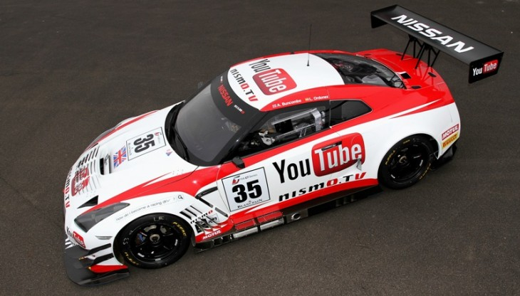 The YouTube Nissan GT R Nismo GT3 730x416 Nismo.TV: Nissan inks YouTube motorsport content deal, includes YouTube branded race cars