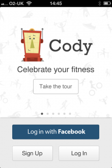 a13 220x330 Cody for iPhone is a cross activity exercise journal that lets you record and share workouts with friends