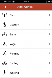 c14 220x330 Cody for iPhone is a cross activity exercise journal that lets you record and share workouts with friends
