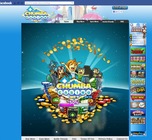 chumba 520x479 Suspended by Kickstarter, Facebook gambling startup Virtual Gaming Worlds raises $2.6m