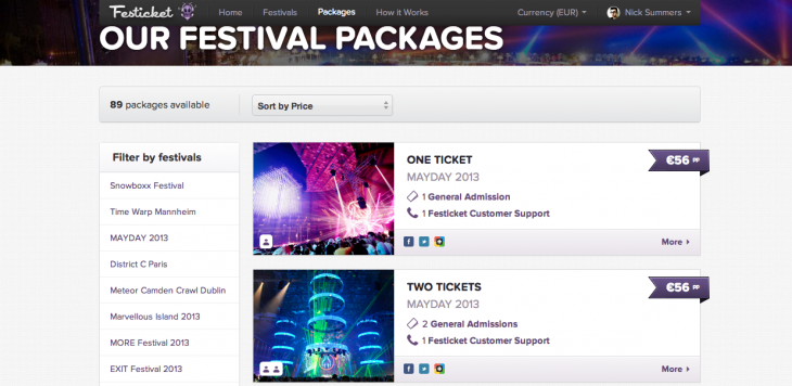 festicket 730x356 Festicket raises $680,000 to expand its platform for music festival packages across Europe