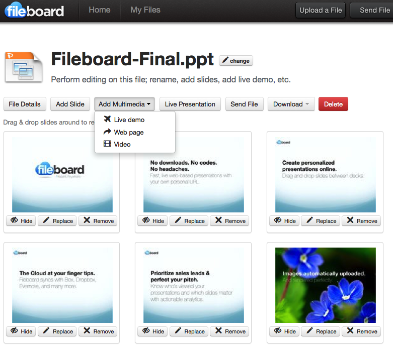 fileboard Fileboard presents live sales presentation and engagement tracking service