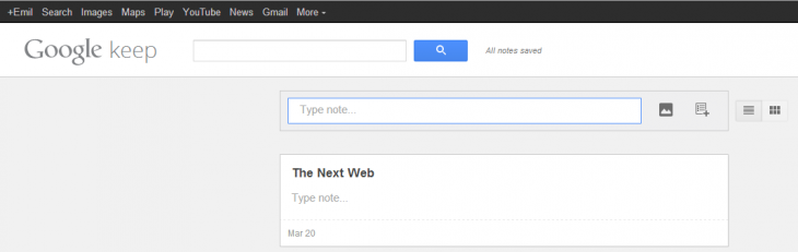 google keep up 730x231 Google launches Evernote rival Keep for the Web, Android 4.0 and above