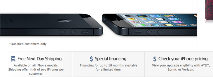 iphoneshipping 730x266 Apple offering free next day shipping on all iPhone models in the US
