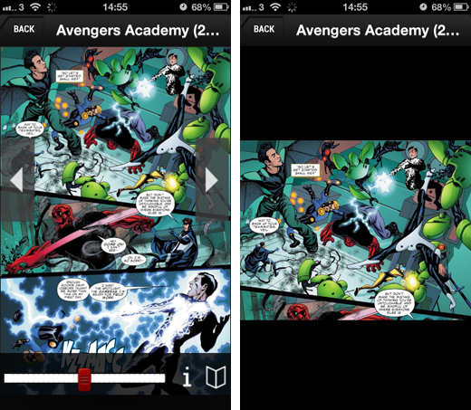 marvelscreens2 Marvels on demand subscription service lands on iOS, but falls short due to a dated back catalog