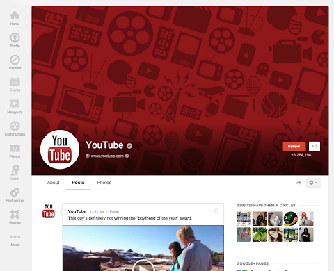 page Google+ gets updated with new Local reviews tab, larger cover photos and a redesigned About tab [Updated]