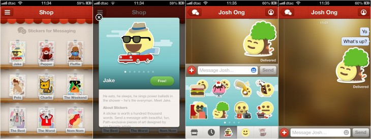 path stickers 730x273 Social app monetization kicks in as App Store revenue jumps 87% year over year: Report
