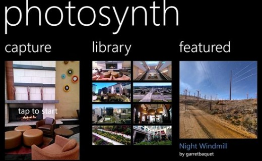 photosynth1 520x319 Microsoft launches panoramic photo stitching app PhotoSynth on Windows Phone 8