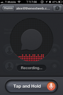 pling iphone 220x330 Pling is a lightweight voice messaging app for iPhone and Mac