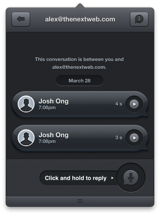 pling mac 520x697 Pling is a lightweight voice messaging app for iPhone and Mac