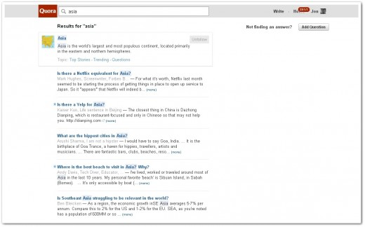 quorasearch2 520x324 Quora finally introduces full text search to boost content discovery