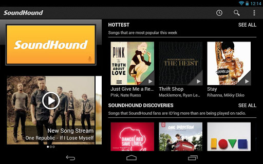 soundhound 2 SoundHound partners with Rdio to launch new Android tablet app with improved UI and music discovery