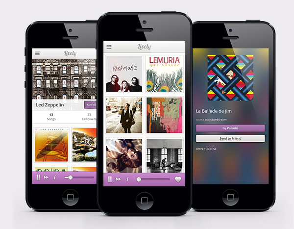 tumblr mk4r2uxyzo1s2c32zo1 1280 Lively.fm is a delightfully simple music discovery app for iOS