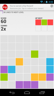unnamed 1 220x391 Rewards startup Kiip quietly launched a game for Android last month, and its already had 1m downloads