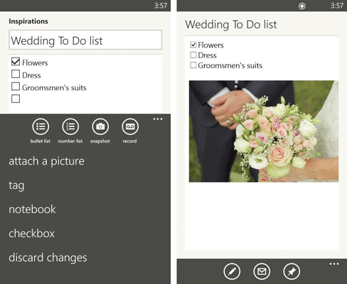 wp check Evernote updates its Windows Phone app with a redesigned home screen, better tags and checkbox support