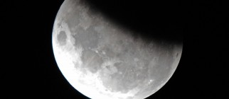 The moon is 37 per cent obscured by the