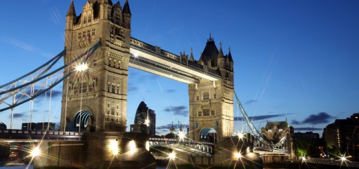 London, Tower Bridge at night