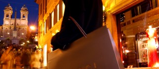 Italians Browse Rome's Top Boutiques For Christmas Gifts
